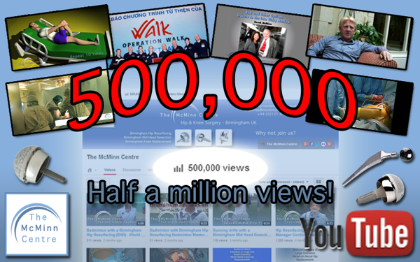 500,000 views for The McMinn Centre Youtube channel