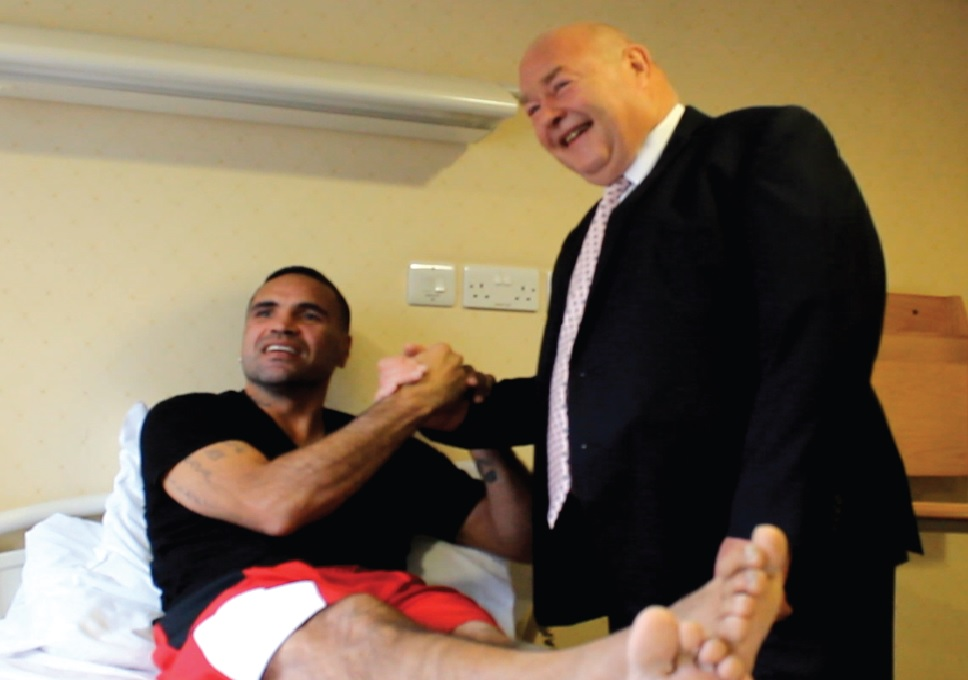 Anthony Mundine meets Mr McMinn prior to BHR surgery