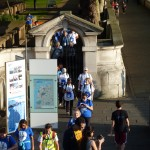 Group two setting off from St Thomas's