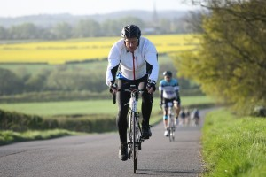 Duncan McDonald cycling in the 'Peterborough 100'