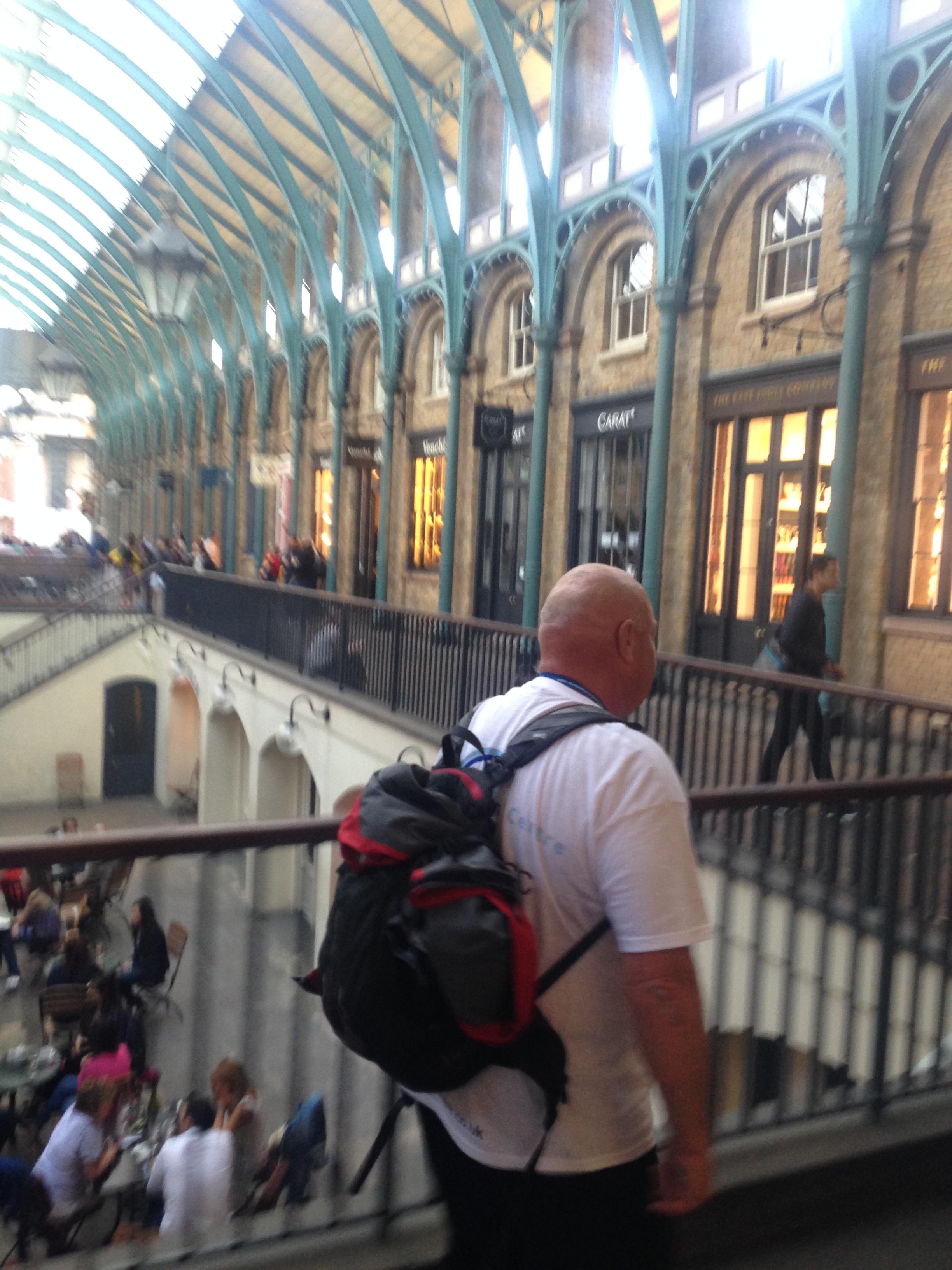 Mr McMinn inside Covent Garden