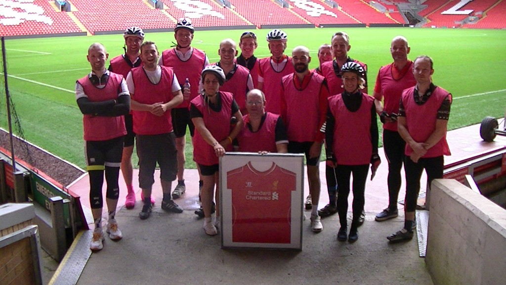 Chris Brightmore Charity Cycle Liverpool FC