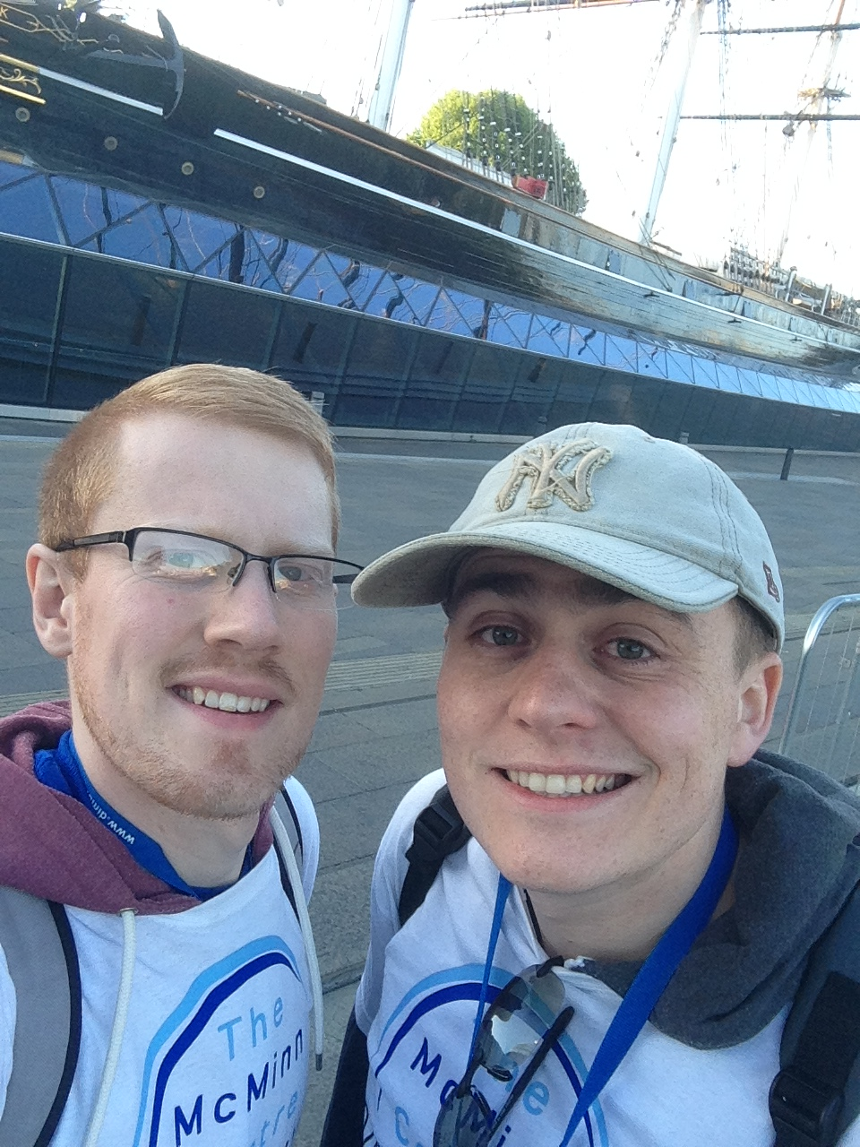 Rob and Chris at The Cutty Sark