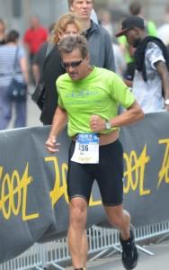 Running in the Hamburg Mini Triathlon, July 2014
