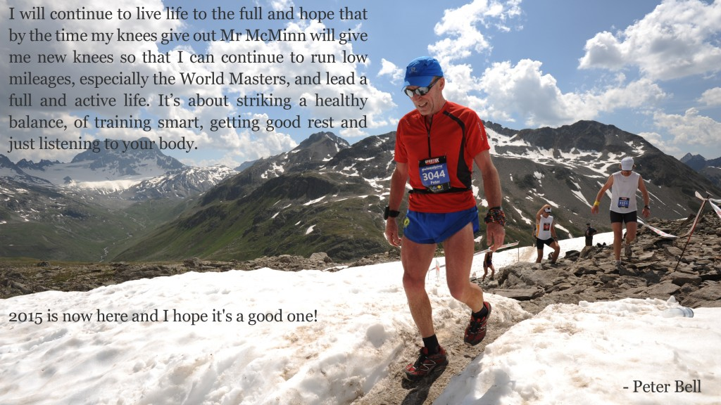 Peter competing in the 2013 Swiss Alpine Marathon