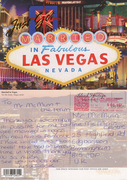 Lisa Cook's Postcard from Las Vegas