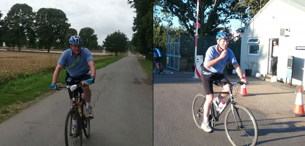 Lord Robathan cycling in France in the 'Wheels on the Western Front' challenge