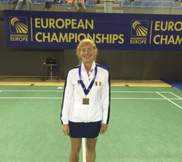 Sian Williams Gold Medal at European Masters 2014