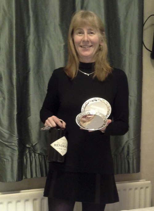 Sian Williams with her prizes from the Scottish Masters 2015